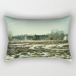 Winter on The Farm Rectangular Pillow