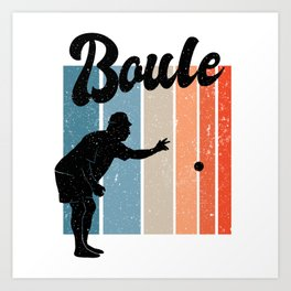 Vintage Boule Art Print