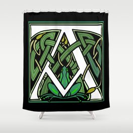 Celtic Frogs Letter A Shower Curtain