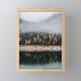 Misty Autumn Forest Framed Mini Art Print
