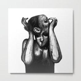 Surreal Distorted Portrait 02 Metal Print