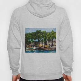 Boats on the Seine Hoody