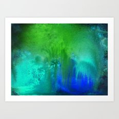 Bioluminescent Algae Art Print