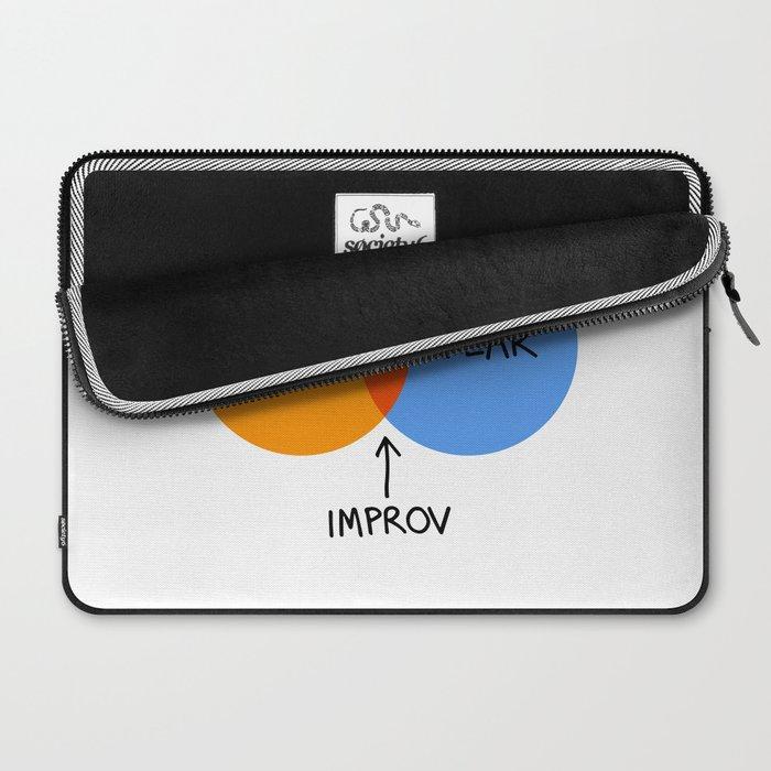 The Venn of Improv (Orange/Blue) Laptop Sleeve