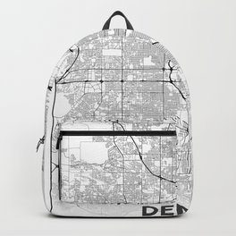 Minimal City Maps - Map Of Denver, Colorado, United States Backpack