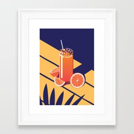 Summer Cocktail Series - Sunrise Framed Art Print