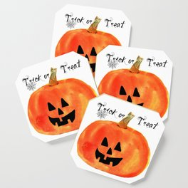 Trick or Treat Jack-O-Lantern, Halloween Pumpkin Coaster