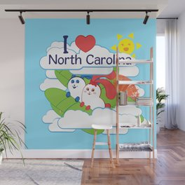 Ernest and Coraline | I love North Carolina Wall Mural