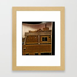 TOKYO: Room View Man at Window. Framed Art Print