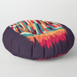 Sunset in Vertical Multicolor Floor Pillow