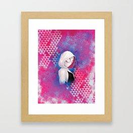 Gwen, digital painting Framed Art Print