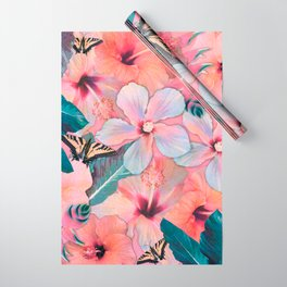 Hale Aloha Hibiscus Wrapping Paper