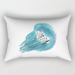 Be your own kind of beautiful Rectangular Pillow