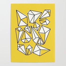 Shine Bright Like A Diamond   Yellow Poster
