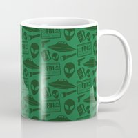 mulder Mugs featuring Fox Mulder by Kuki