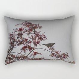 Birds on rowan tree Rectangular Pillow