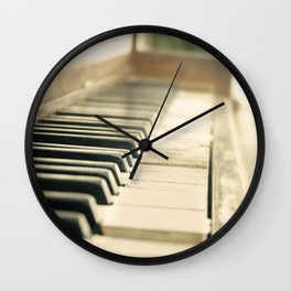 Tickling The Ivories Abandoned Piano Urban Exploration, Urbex, Music, Musical Instrument Wall Clock