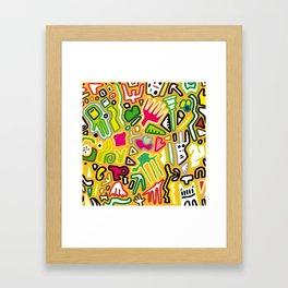 color doodle Framed Art Print