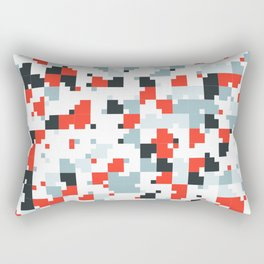 The accent color - Random pixel pattern in red white and blue Rectangular Pillow