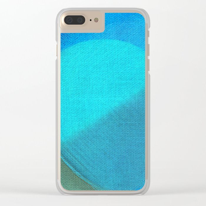 Blue Moons Clear iPhone Case