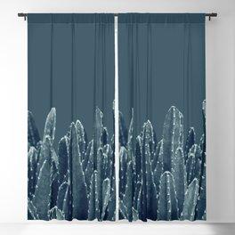 Blue Cacti Dream #1 #minimal #decor #art #society6 Blackout Curtain