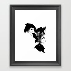 Freedom for my crows... Framed Art Print