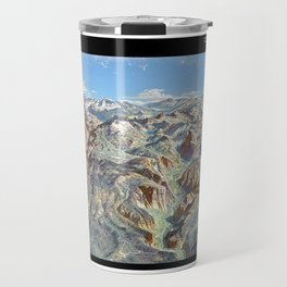 Sky Panorama Map of Yosemite National Park with Labels Travel Mug
