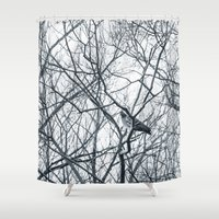 pigeon Shower Curtains featuring pigeon by Lama BOO