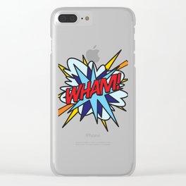Comic Book WHAM! Clear iPhone Case