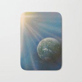 Sun Cross Earth Space Spray Paint Bath Mat