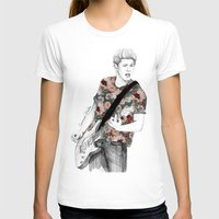 coconutwishes T-shirts featuring Floral Niall by Coconut Wishes