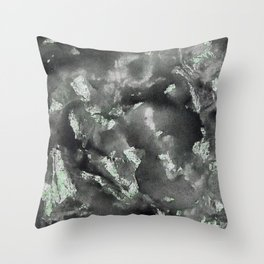 Black Ink on Green Washable Marker Throw Pillow