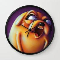 jake Wall Clocks featuring Jake  by Kamory