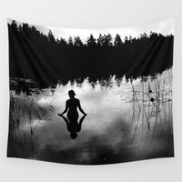 bow Wall Tapestries featuring Reflecting Beauty v2 BoW by Nicklas Gustafsson
