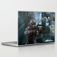 guardians Laptop & iPad Skins featuring Halo5 Guardians by giftstore2u