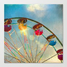 Light up the Sky carnival ferris wheel  Canvas Print