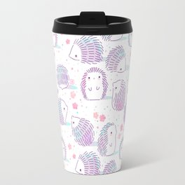 Spring Hedgehog Pattern Travel Mug