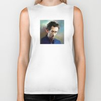 house md Biker Tanks featuring house md by robotrake