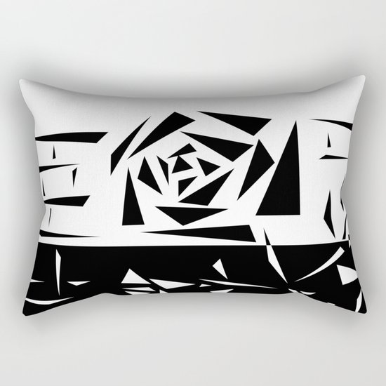 Abstract rose. black and white . 1 Rectangular Pillow