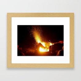 The Fire Has Life Framed Art Print