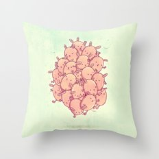Cute bunnies Throw Pillow
