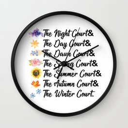 ACOTAR Courts Wall Clock