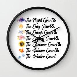 ACOTAR Courts Wall Clock