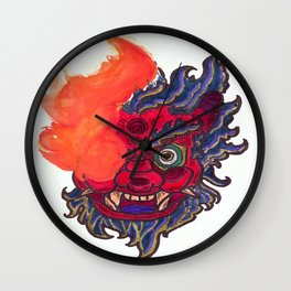Hate Monster Oni Wall Clock