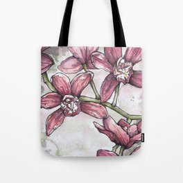 Orchids - Watercolor and Ink artwork Tote Bag