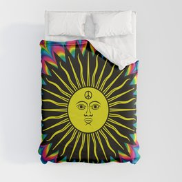 Psychedelic Hippie Trippy Summer Festival Duvet Cover