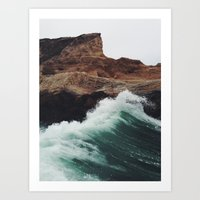 surf Art Prints featuring Montaña Wave by Kevin Russ