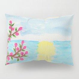 Cherry Tree Ocean View Pillow Sham