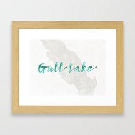 Gull Lake Framed Art Print