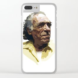Charles Bukowski Clear iPhone Case